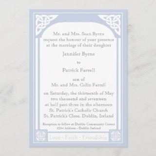 Celtic Knot Frame Invitation - Light Blue