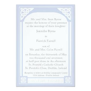 Celtic Knot Frame Invitations - Light Blue