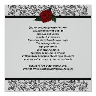 Celtic Knot Infinity Rose Goth Wedding Invitation