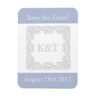 Celtic Knot Initials - Light Blue Magnet