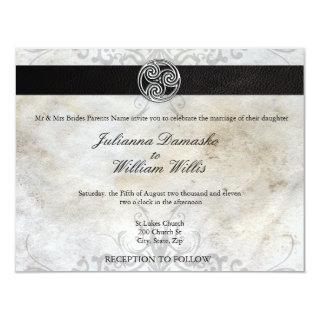 Celtic Knot Irish Gaelic Wedding Invitations