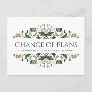 Celtic Knot | Irish Wedding Cange of Plans Announcement Postcard