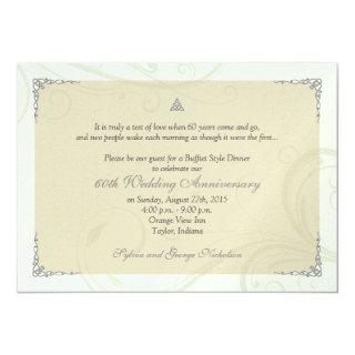 Celtic Love Knot Diamond Wedding Anniversary Invitations