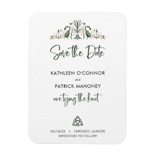 Celtic Love Knot Romantic Wedding Save the Date Magnet