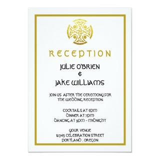 Celtic Wedding Faux Gold Celtic Knot Cross Invitations
