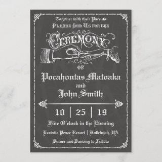 Ceremony Vintage Chalkboard Wedding Invitations