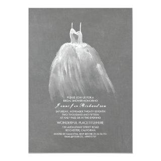 Chalkboard Bridal Shower Elegant Vintage Gown Invitation