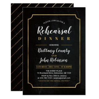 Chalkboard | Classic Wedding Rehearsal Dinner Invitations