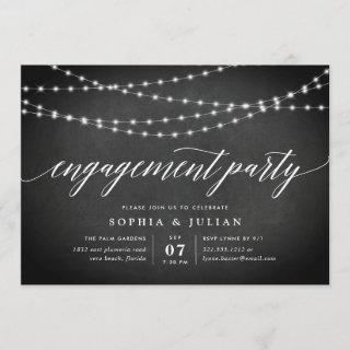 Chalkboard Garland Engagement Party