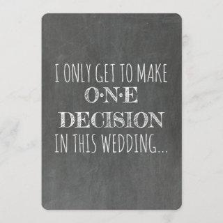 Chalkboard | GROOMSMAN | BEST MAN Funny Proposal Invitations