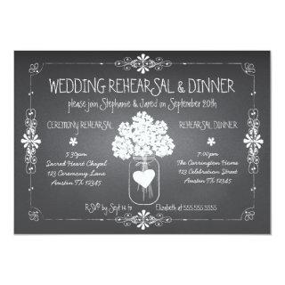 Chalkboard Wedding Rehearsal & Dinner Mason Jar Invitations