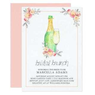 Champagne Bridal Brunch Invitations
