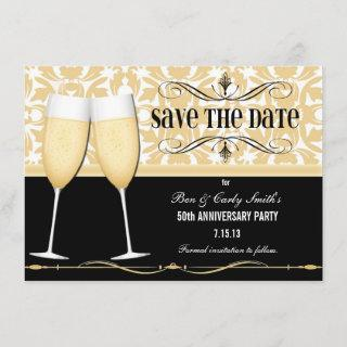 Champagne Glasses Save the Date