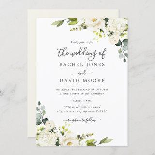 Champagne Green Watercolor Floral Wedding
