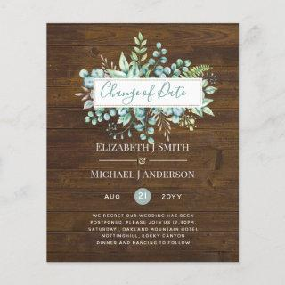 Change of Plans Date Rustic Wood Greenery Event