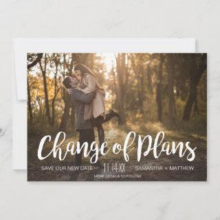 Change of Plans Photo Postponed Wedding Save The Date