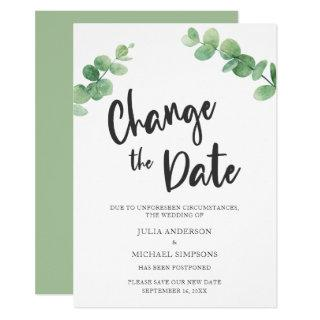 Change the Date Eucalyptus Postponed Cancelled Invitation