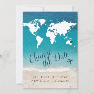 Change the Date of Beach Destination Wedding Announcement