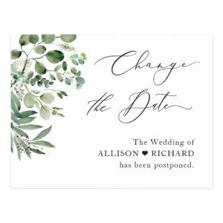 Change the Date Script Simple Elegant Eucalyptus Postcard