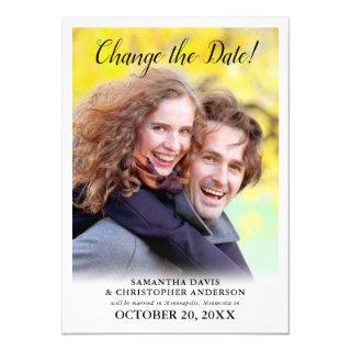 Changed The Date Vertical Photo Wedding Invitations
