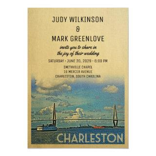 Charleston Wedding Invitation Vintage Mid-Century