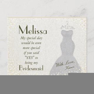 Charming and Fun Bridesmaid Invitation