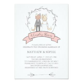 Charming Cats A Couple Shower Invitations