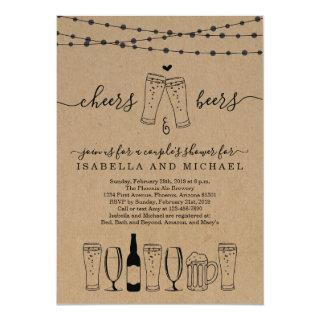 Cheers & Beer Couple's Shower / Rehearsal Dinner Invitations
