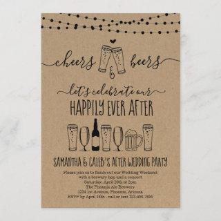 Cheers & Beer Wedding After Party Invitation