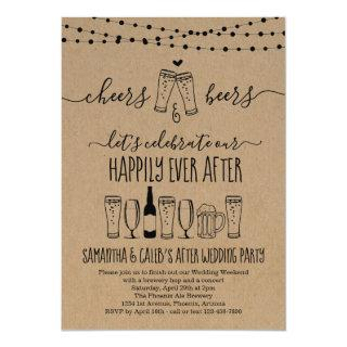 Cheers & Beer Wedding After Party Invitations