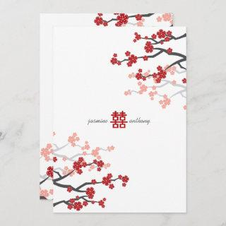 Cherry Blossoms Double Happiness Chinese Wedding