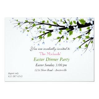 Cherry Blossoms Easter Dinner Party Invitations
