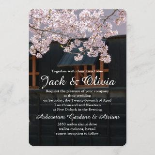 Cherry Blossoms Flowers Wedding Invitation