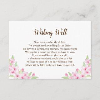 Cherry Blossoms Watercolor Wedding Gift Guide Card