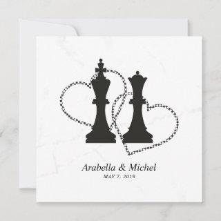 Chess King and Queen Wedding Design