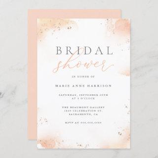 Chic Blush Pink Ombre Gold Dust Bridal Shower