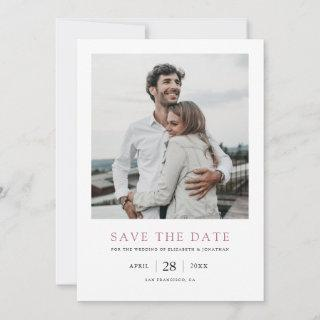 Chic Modern Rose Gold Photo Wedding Save the Date