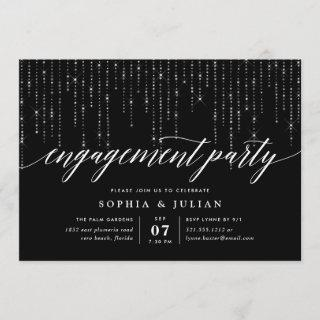 Chic String Lights Engagement Party Invitations