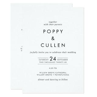 Chic Typography All In One Wedding Invitation