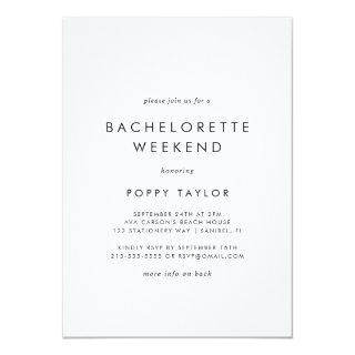 Chic Typography Bachelorette Weekend Invitations