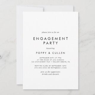 Chic Typography Engagement Party Invitations