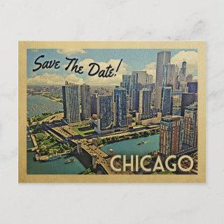 Chicago Save The Date Illinois Announcement Postcard