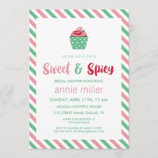 Chili Pepper Cupcake | Sweet & Spicy Bridal Shower Invitations