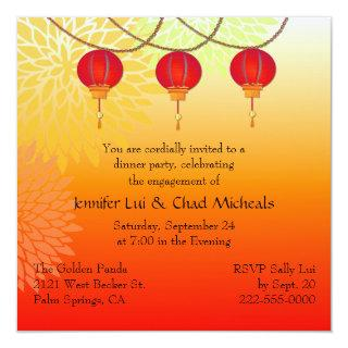 Chinese Themed Engagement Party Invitations