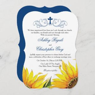 Christian Wedding Invitations - Sunflowers
