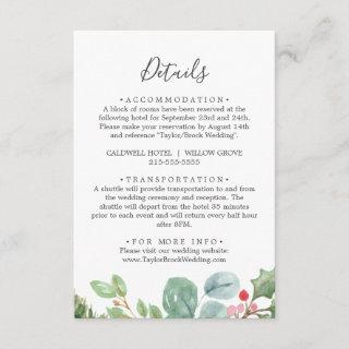 Christmas Greenery & Berry Details Enclosure Card