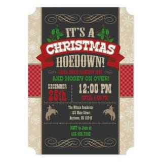 Christmas Hoedown Party Invitations