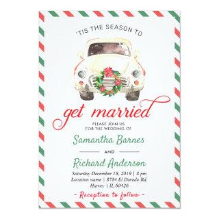 Christmas Holiday Winter Red Green Travel Wedding Invitations