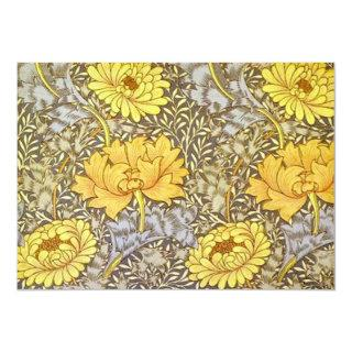 Chrysanthemums by William Morris Invitations