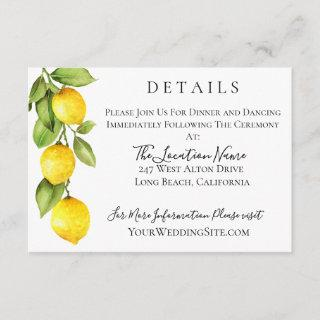 Citrus Orchard Wedding Details Invitations